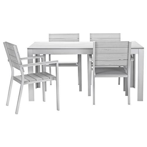 FALSTER Τραπέζι και 4 καρέκλες με μπράτσα - IKEA