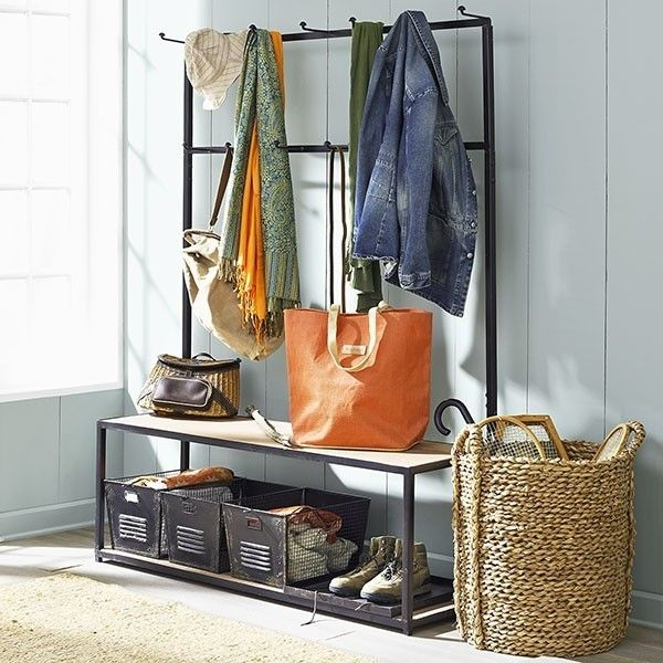 Entryway Storage Hall Tree - Foter
