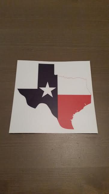 State of texas decal