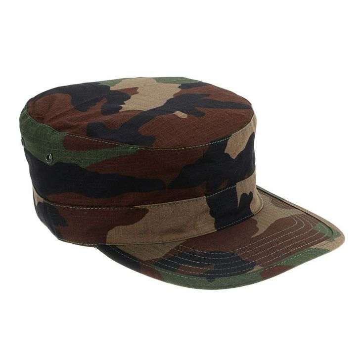 Unisex Cool Canvas Camouflage Flat-top Cap Hat Army Green Camouflage Military Soldier Combat Hats Sport Cap Hiking Caps
