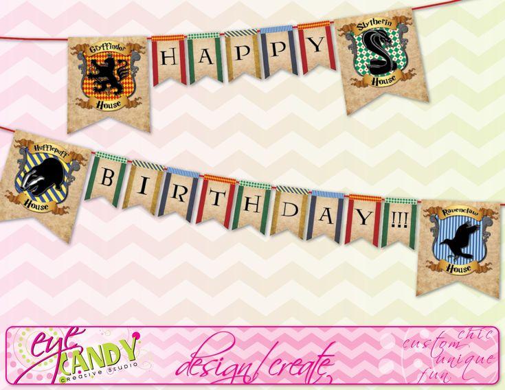 Harry Potter Printable Birthday Banner