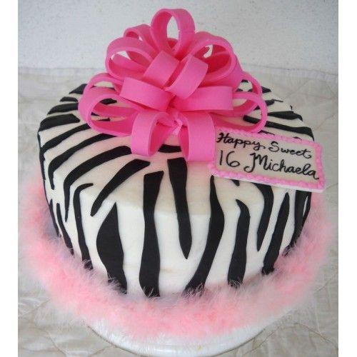 25+ Best Ideas About Zebra Print Cakes On Pinterest