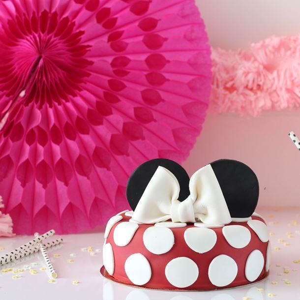 Gateau d'anniversaire Minnie rapide