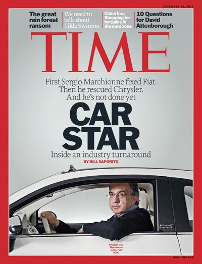 Sergio Marchionne fixed Fiat then Chrysler. A man that thinks outside the box and saved 300,000 jobs in Michigan by saving Chrysler. Gets MY vote!