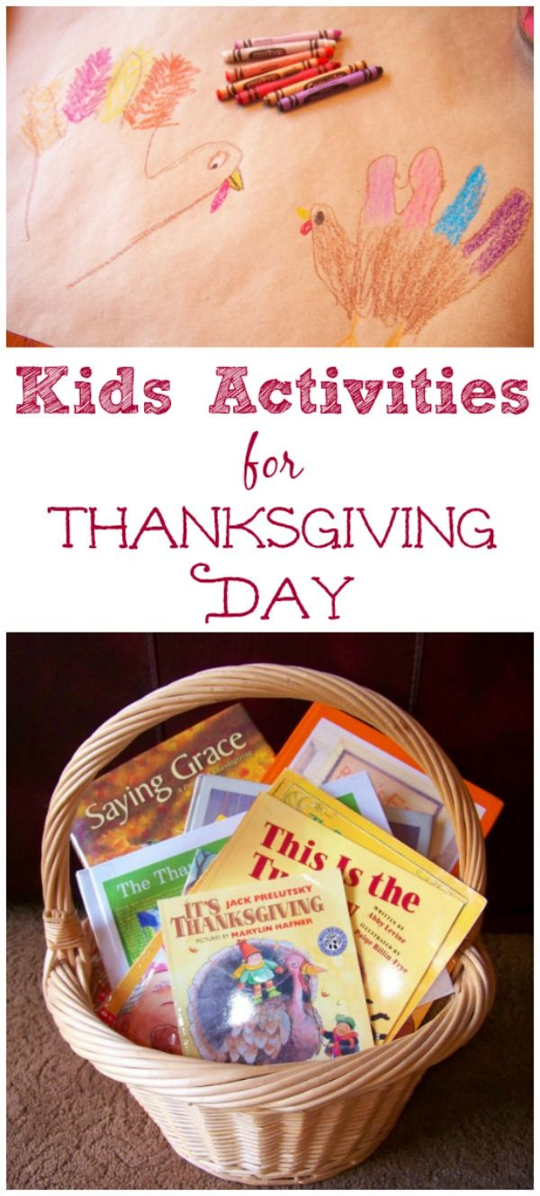 Thanksgiving crafts & activities for kids!  Great ideas for the kids' table and to do on Thanksgiving Day.