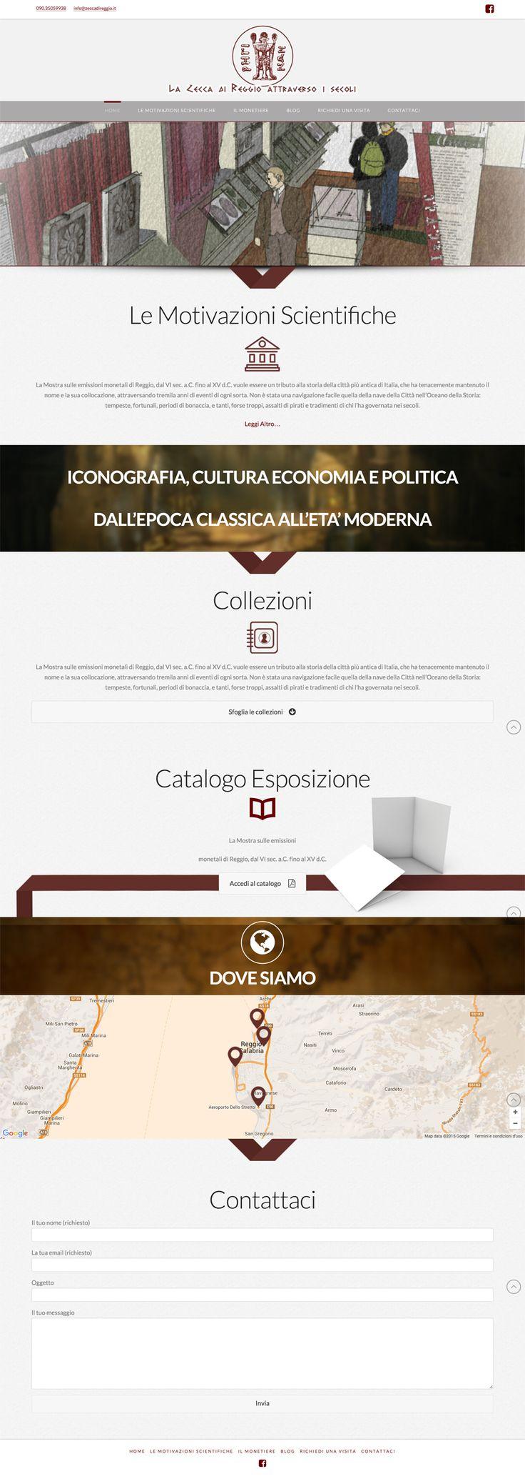Sito web di presentazione per La Zecca di Reggio - Messina - HomePage - Realizzato con Wordpress- Anno 2015