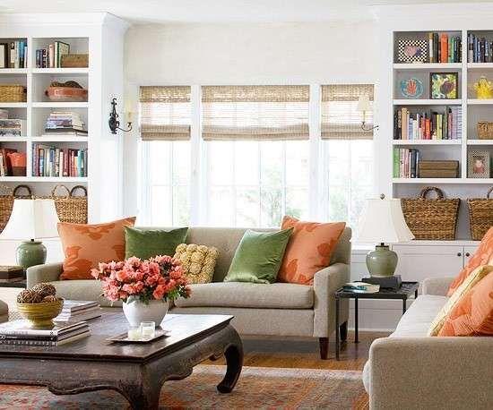 I colori adatti per le pareti di casa - Pareti bianche in soggiorno