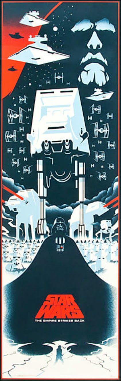 The Geeky Nerfherder: Cool Art: 'Star Wars: The Empire Strikes Back' by Eric Tan