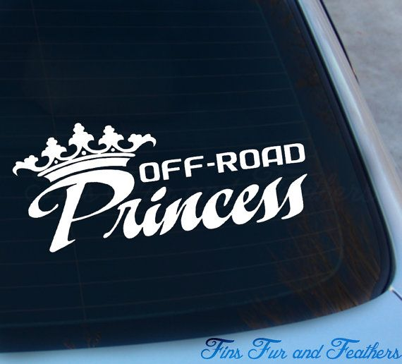 Offroad Princess Decal  Mudding sticker  by FinsFurAndFeathers