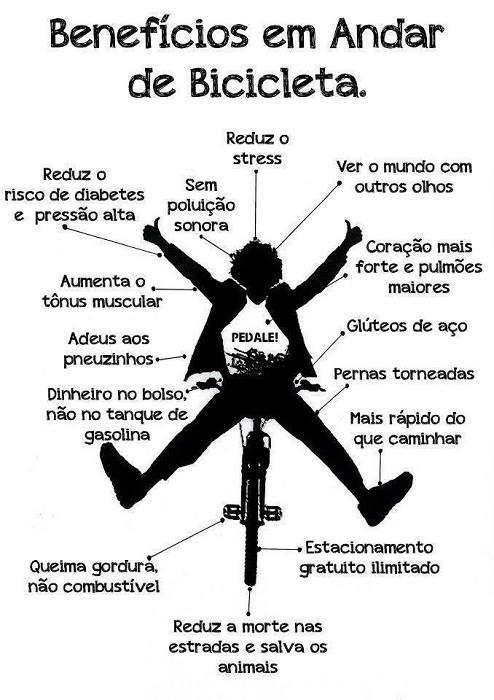 #Benefícios de andar de #bicicleta. Saiba como fazer mais coisas em http://www.comofazer.org