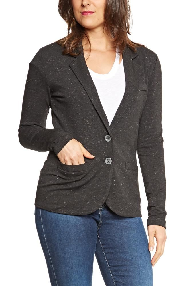 Tart Collections Essential Blazer in Black w/Rose Lurex