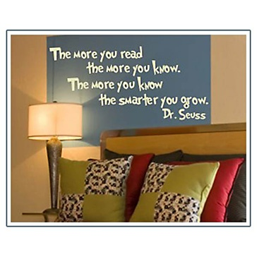 Love for a kids book nook  The More You Read the More You Know Wall Art