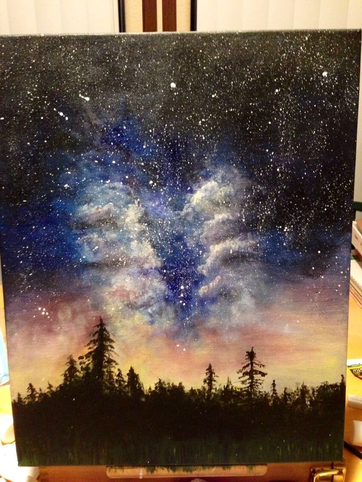 how to draw a galaxy with paint