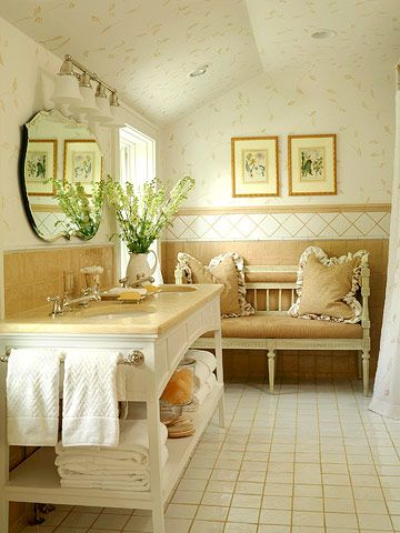 Cozy and Cute Bath: Bathroom Remodeling Redecor, Bathroom Makeovers, Design Ideas, Double Vanities, Vanities Design, Double Bathroom Vanities, Beautiful Bathroom, Bathroom Editing, Bathroom Decor