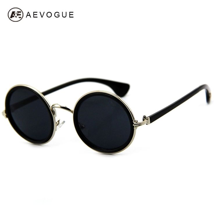 AEVOGUE rodada óculos de sol do desenhador do vintage Unisex Armação de Metal da marca óculos de sol das mulheres gafas oculos de sol UV400 óculos de sol DT0254 Loja Online | aliexpress móvel