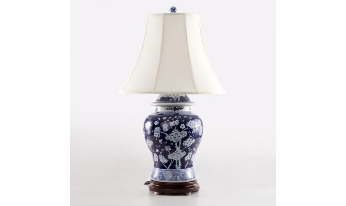 LAMPA STOŁOWA CERAMICZNA - CHERRY BLOSSOM