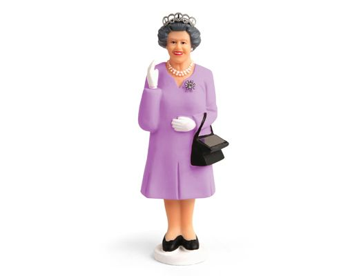 A constantly waving Queen.  Cute.
