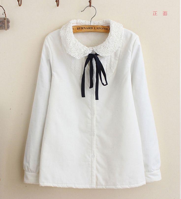 Lace Collar Polar Shirt (B0079)    #caterpillar #barnard #lafond #bernardlafond #cottage glaze #groove #moda #shop #shopping #blouse #womenblouse #girlsblouse #shop