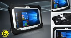 Panasonics latest ATEX Zone 2 certified fully rugged Windows tablet designed for versatile mobile computing in potentially explosive industries