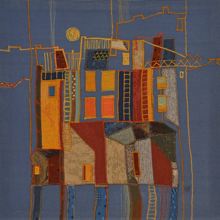 Buy Glowing windows, a Fabric Collage on Soft (Yarn, Cotton, Fabric), by Iryna Shostak-Orlova from Ukraine, For sale, Price is $890, Size is 27.6 x 27.6 x 0.6 in.
