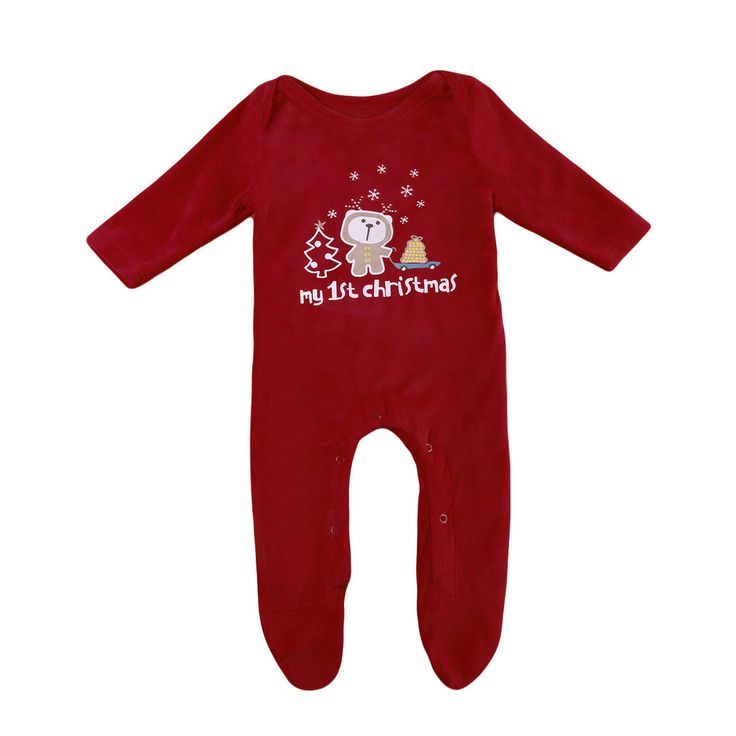 Xmas Romper Jumpsuit Clothes Outfit Christmas Top Baby Boy Girl Newborn Infant Playsuit UK #ChristmasOutfit