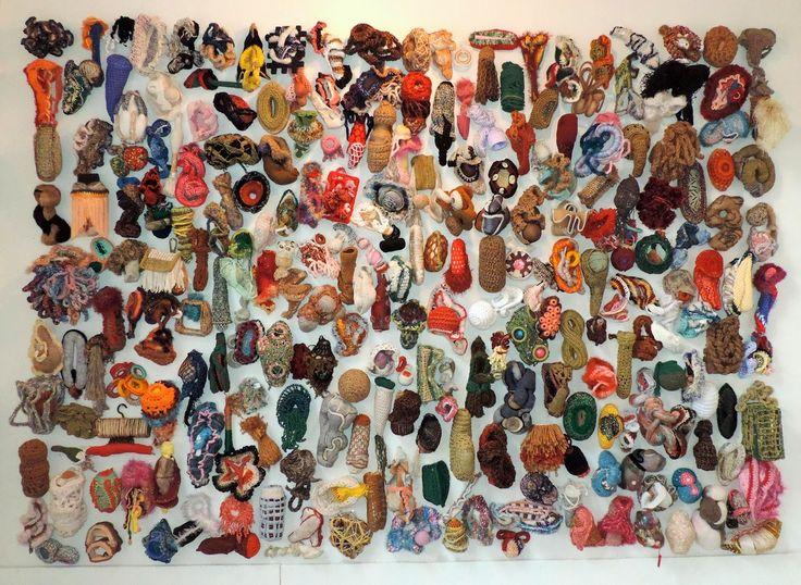 Distorts 251/333 crocheted sculptures