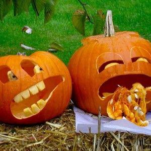 Figures from a pumpkin for Halloween / Фигурки из тыквы для Хэллоуина