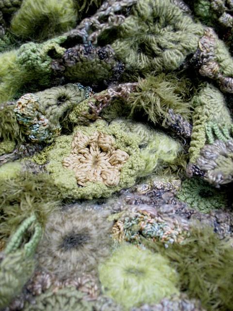 Prudence Mapstone - freeform knitting/crochet - detail