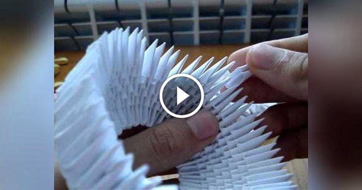 Finalmente ho trovato il video che in tanti mi avete chiesto, come realizzare un cigno con la tecnica degli origami 3d, video fatto veramente bene e dettagliato spero vi piaccia e che riusciate
