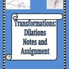 This is a set of notes meant to teach the concept of the transformations created by Dilations.    Included in this product your will find:  A set o...