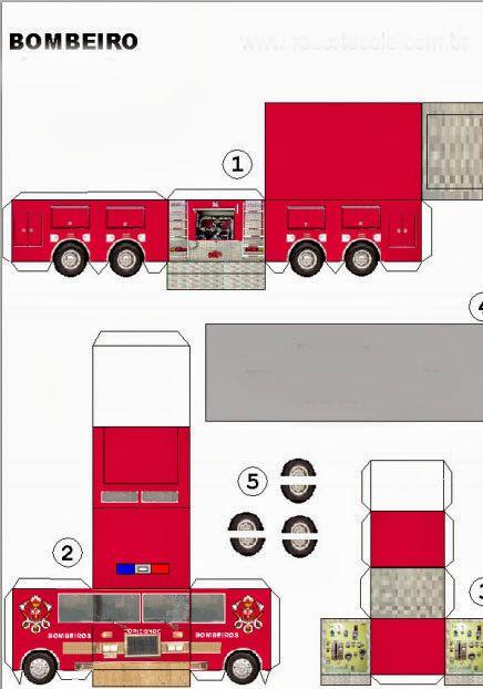 Molde de carro de bombeiro                                                                                                                                                     Mais