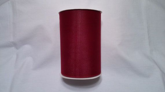 Maroon Tulle Maroon Tulle Roll Maroon Tulle 100 yards by JustTulle