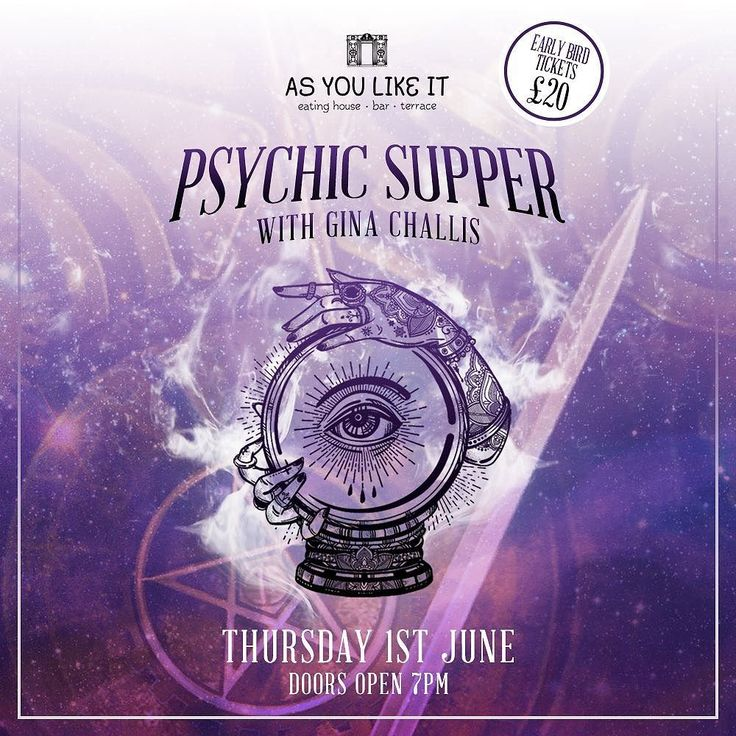 We're predicting... a sell out! Book your tickets NOW on 0191 281 2277 #asyoulikeitjes #psychicsupper #ginachallis #newcastle #jesmond #psychic #nefollowers