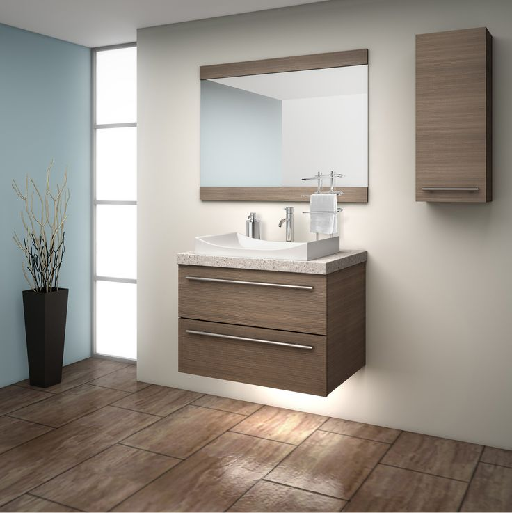 Coming Spring 2015 our new, URBAN vanity line, shown here in Sonoma Walnut.  EuroRite Cabinets - Available at Yorkton Building Supplies.