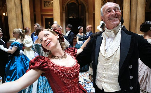Lucy Worsley and Len Goodman in BBC Four's Dancing Cheek to Cheek: An Intimate History of Dance.