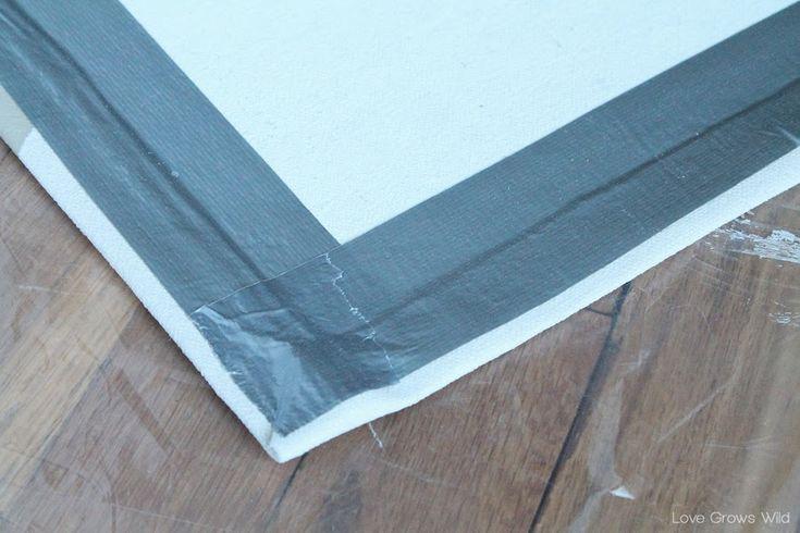 How to Make a DIY Drop Cloth Rug