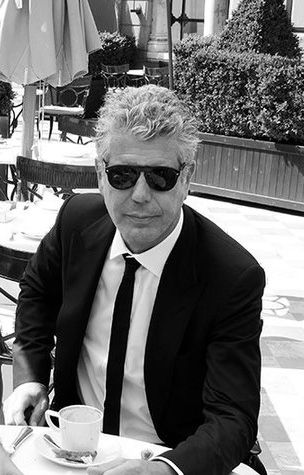 Anthony Bourdain. I really like him but I wish he wasn't so down on the vegetarians...