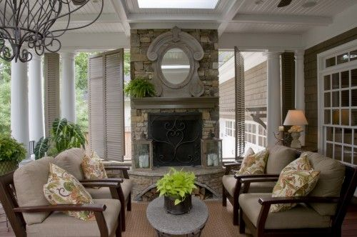 outdoor room: Ideas, Outdoor Living, Traditional Porch, Castro Design, Outdoor Room, Outdoor Spaces, Porches