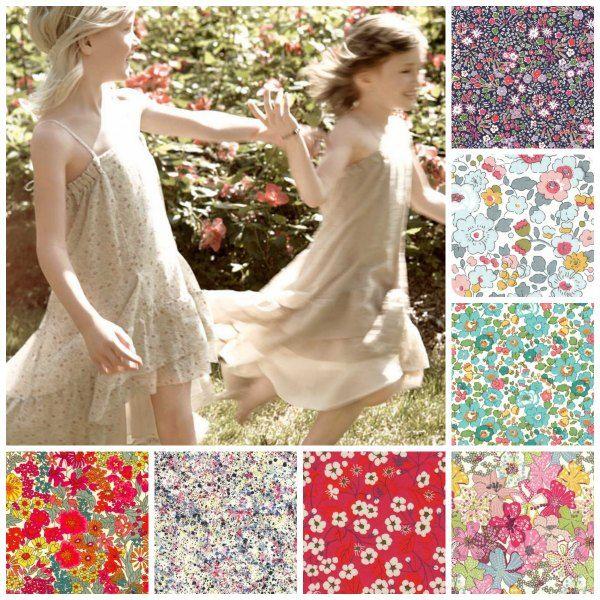 liberty, flowers, fiori fabrics, tissus, tessuti on line http://supercut.it/