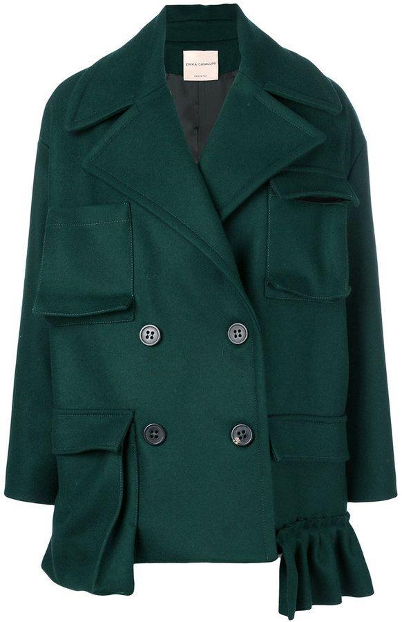 Erika Cavallini pocketed double breasted short coat