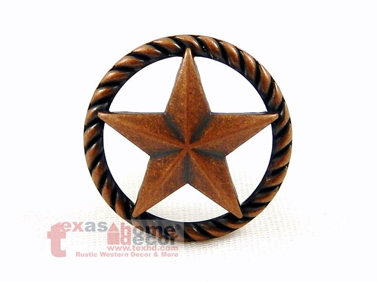 High Quality Texas Lone Star Rope Drawer Cabinet Knob Pull Western Oil Rubbed Bronze