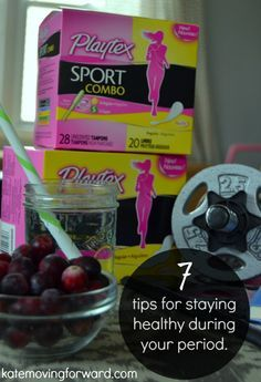 7 Tips for Staying Healthy During Your Period--don't let your weight loss goals get derailed every month! Use these tips to stay on track! #FitToPlay #AD