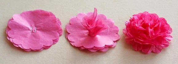 Dicas pra Mamãe: Passo a passo de flor de papel de seda - Super fácil e rápido