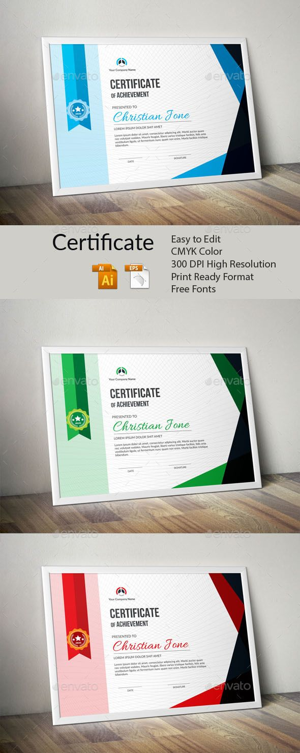 #Certificate - Certificates #Stationery Download here:  https://graphicriver.net/item/certificate/19748332?ref=alena994