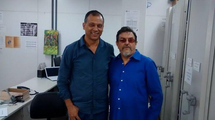 """13/5/2015 - Nelson Douglas ao lado de Célio Nunes, o """"último gerente de fiscalização... colega que respeito pela retidão de caráter"""""""
