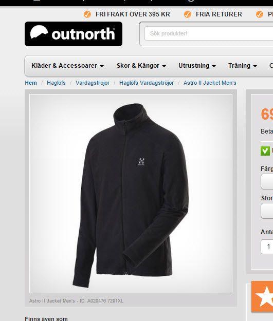 Haglöfs Astra II jacket på #Outnorth http://www.outnorth.se/haglofs/astro-ii-jacket-men-s#TrueBlack