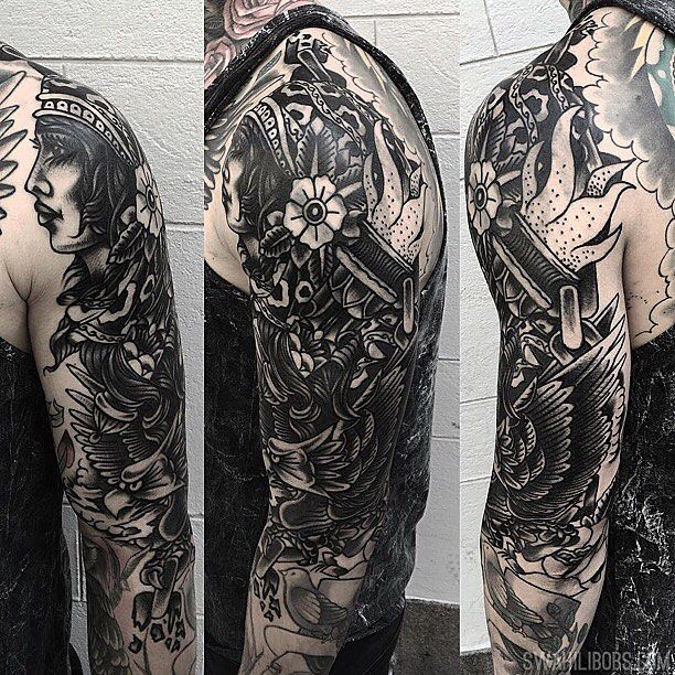 Tribal cover up in progress by Karl @karlheartland #tatuering #stockholm #södermalm #coveruptattoo #traditionaltattoo