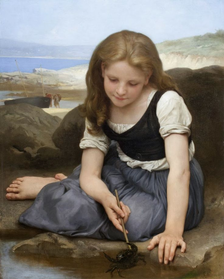 FRENCH PAINTERS: William-Adolphe BOUGUEREAU Le Crabe