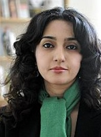 Pegāh Ahmadi (born 1974 in Tehran) is an Iranian poet and literary critic and also a translator of poetry. At seventeen she made her début as a poet by the publication of a poem in the literary magazine Takāpu. Since then she has regularly contributed to literary magazines inside Iran. She studied Persian Literature at University of Tehran.