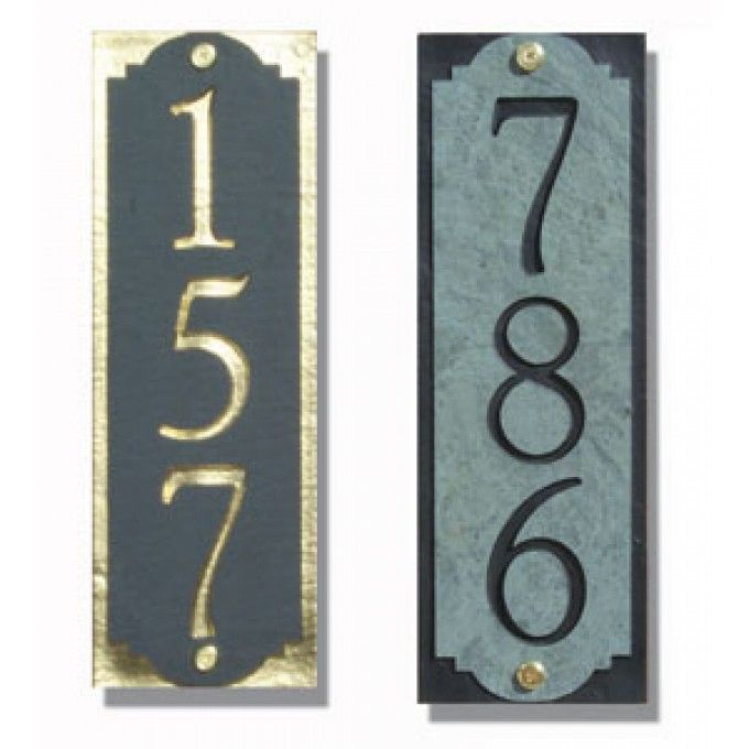 Superb Vertical Traditional House Number Plaque Hausnummer